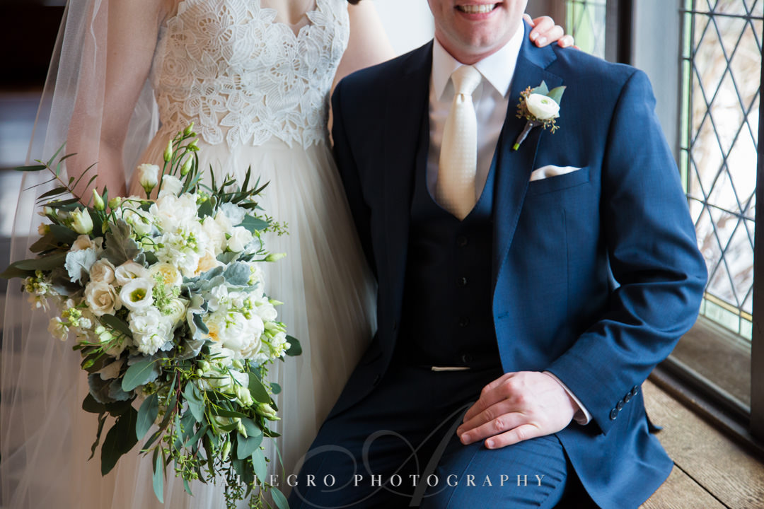 Beautiful bride and groom pose for Allegro Photography