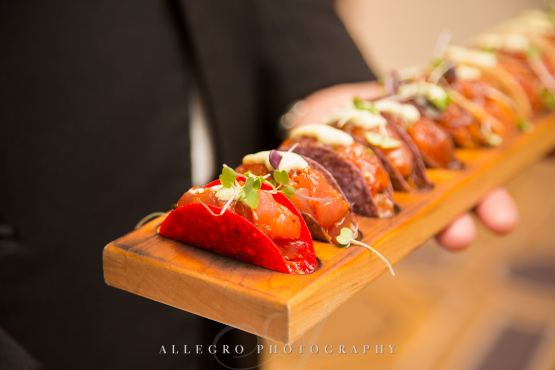 Wedding hors d'oeuvres | Allegro Photography