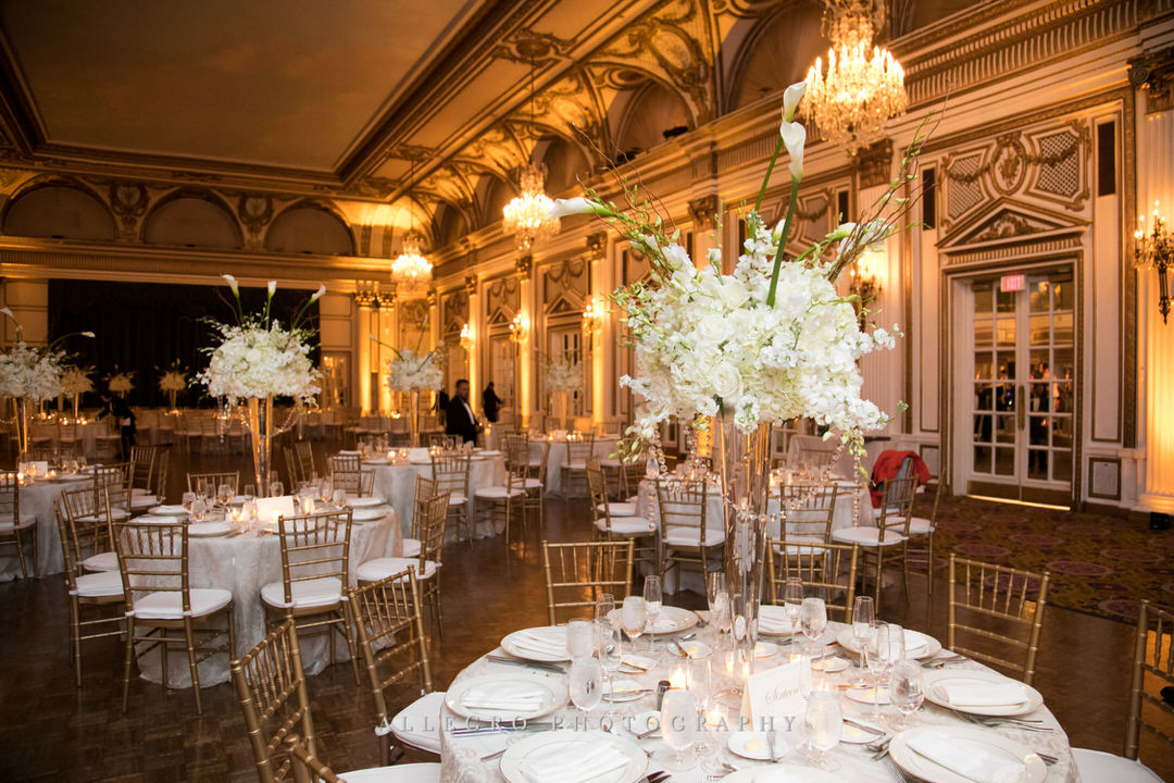 wedding reception hall at the fairmont copley