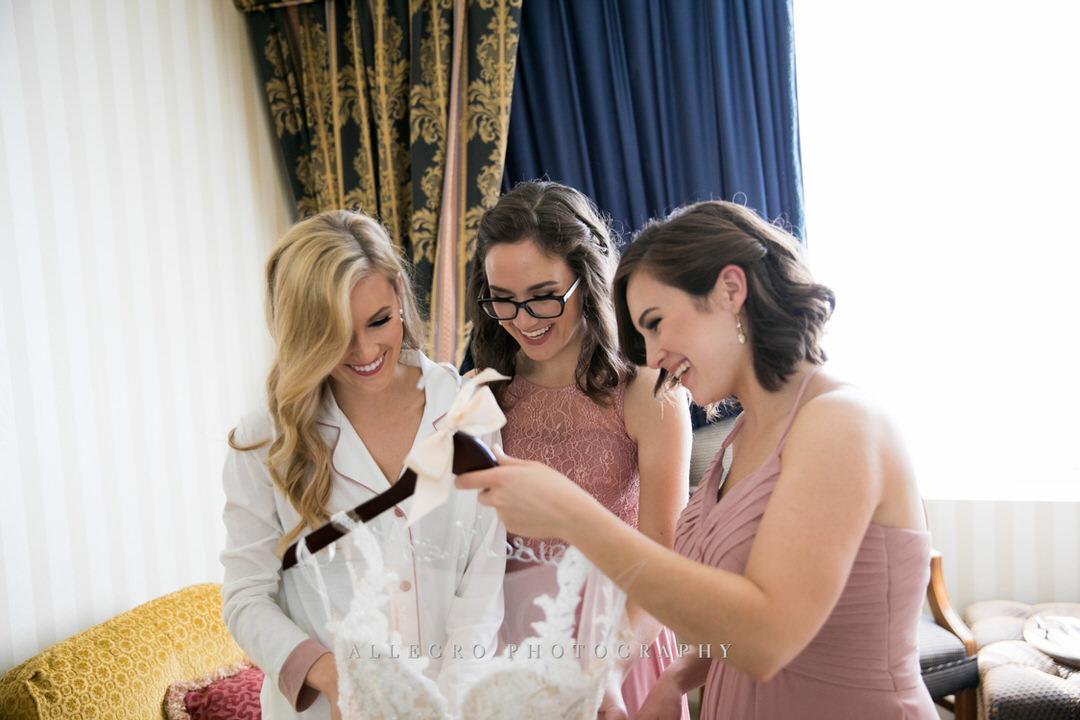 admiring the martina liana wedding dress
