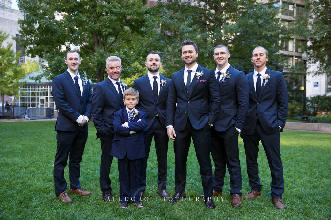 Groom and his Groomsmen at post office square