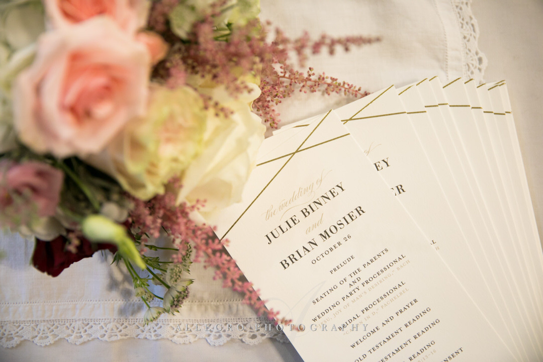 flowers and wedding itinerary